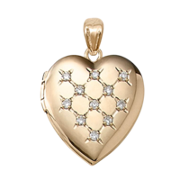 Diamond Gold Heart Locket