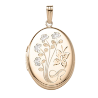 Two Tone Butterfly Locket