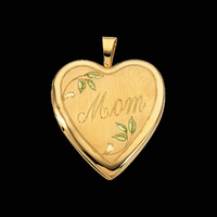 "Gold ""Mom"" Heart Locket"