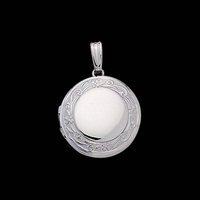 Round White Gold Locket