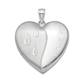 Silver Lockets Sterling Silver Heart Ash Holder Locket