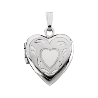 Heart Lockets White Gold Heart Locket