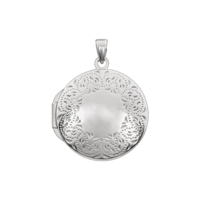 White Gold Lockets White Gold Lace Locket