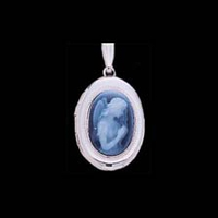 White Gold Lockets White Gold Angel Locket