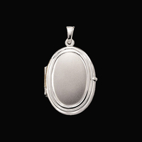 White Gold Oval Locket