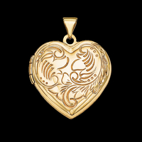 Fancy Domed Heart Locket