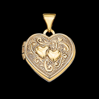 Heart and Scroll Heart Locket