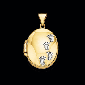 Gold Footprints Locket