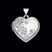 Heart Shaped Floral Locket