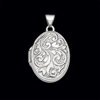 Fancy Scroll Design Locket