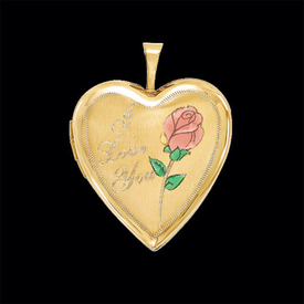 Long Stem Rose Locket