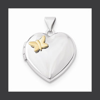 Butterfly Heart Locket