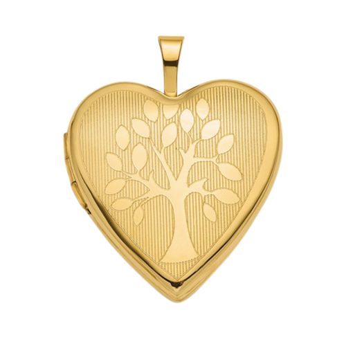 14k Gold Tree Heart Locket
