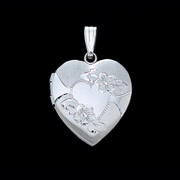 Floral White Gold Heart Locket Lovely Items By Gracious
