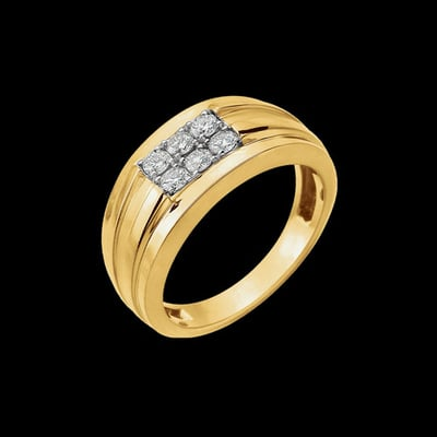 Men's Two Tone 1/2ctw Diamond Ring