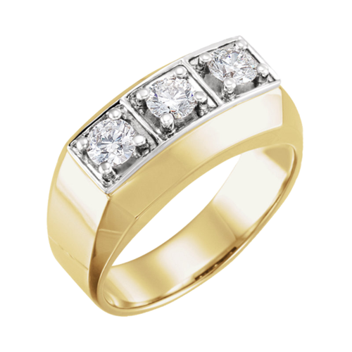 Gents Gold & Diamond Ring