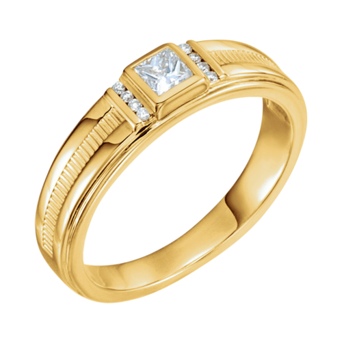 14k Gold Men's Diamond