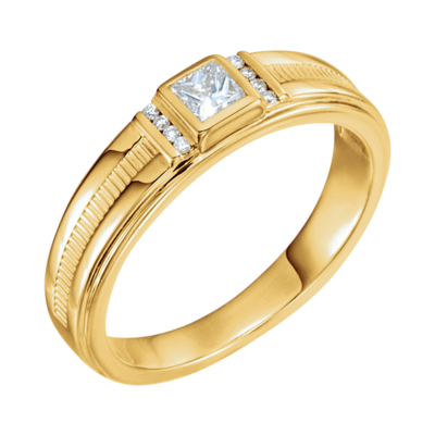 Non Metal Wedding Bands >> 14k Gold Men's Diamond