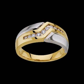 Masculine Two Tone Ring