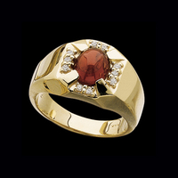 Mozambique Garnet Mens Ring