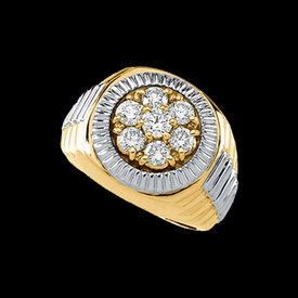 Mens Rings Diamond Watch Design Ring