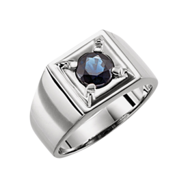 Mens Rings Men's Blue Sapphire Solitaire Ring