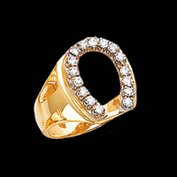 Mens Rings Diamond Horseshoe Ring