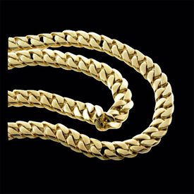 Man's Chain Sophisticated Gold Curb Chain