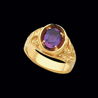 Mens Rings Men's Rugged Nugget Gemstone Ring
