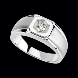 Stylish White Gold Diamond Ring