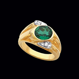 Mens Gold Gemstone Ring