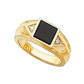 Handsome Men's Onyx Ring
