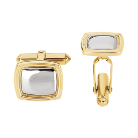 Two Tone Square Cuff Links