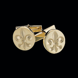 Mens Cufflinks Men's Fleur De Lis Cuff Links
