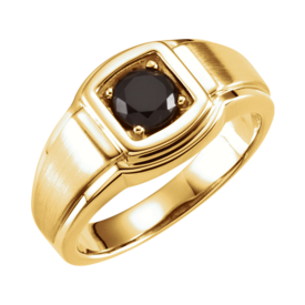 Sophisticated Men's Onyx Ring