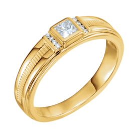 Mens Rings 14k Gold Men's Diamond