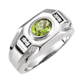Mens Rings Men's East West Gemstone Ring