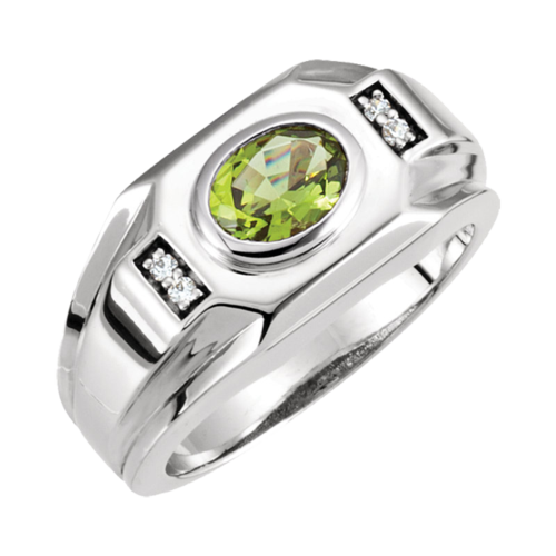 Men's East West Gemstone Ring