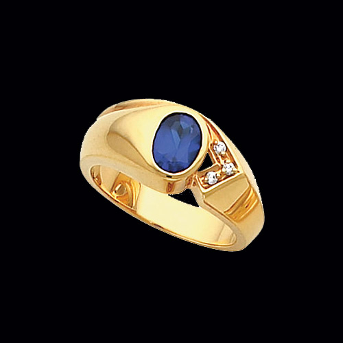 Mens Modern Design Gemstone Ring