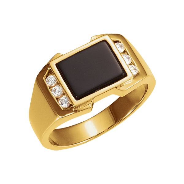 Diamond Onyx Men S Ring
