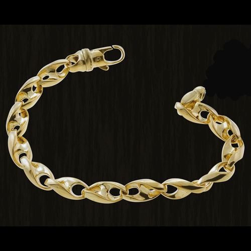 main image shop fpx link bracelet product macy s row in twisted gold heart double