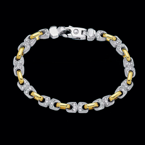 Fancy Mens Gold Diamond Bracelet