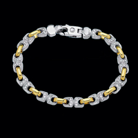 Men's Diamond Bracelets Fancy Mens Gold Diamond Bracelet