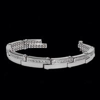 Men's Diamond Bracelets Twin Bar Links Diamond Bracelet