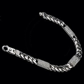 Men's Diamond Bracelets Incredible Gold Curb Diamond Bracelet