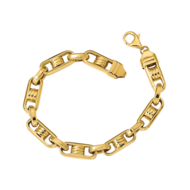 Mens Gold Bracelets Italian Men's Polished Link Bracelet