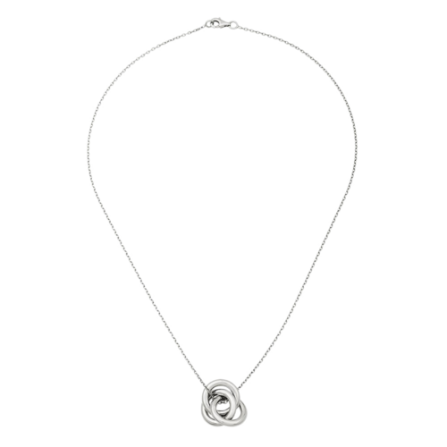 14K White Gold Intertwined Tri-Circle Necklace