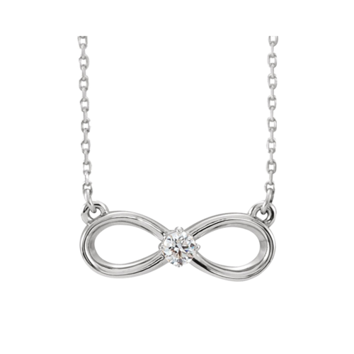 14kt Gold Diamond Infinity Inspired Necklace
