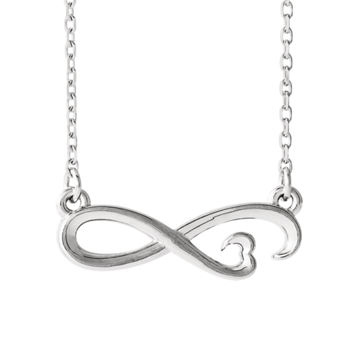 14k Gold Infinity Inspired Heart Necklace