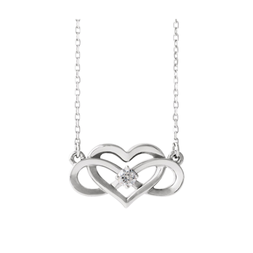 Diamond Infinity Inspired Necklace